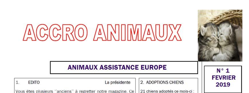 Accro Animaux de février 2019 est sorti !